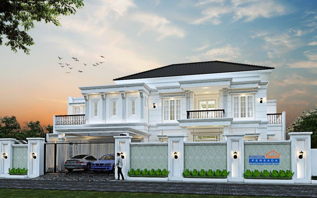 Desain Rumah Klasik Moderen 2 Lantai Di Lahan 21 x 26 M2