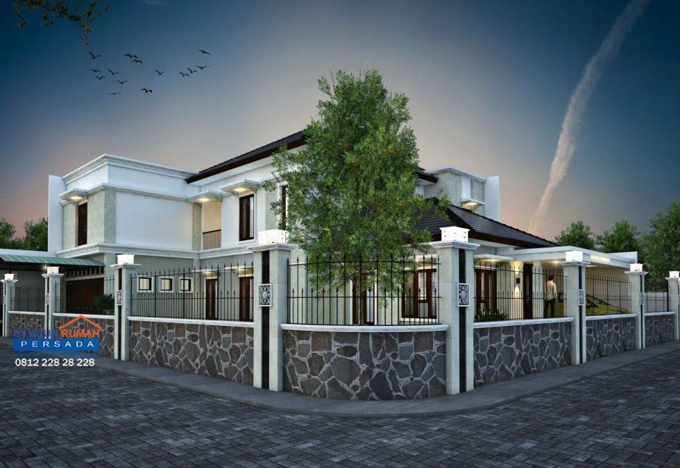 Desain Rumah Tropis 2 Lantai Di Lahan Hook Ukuran 20 x 25 M2